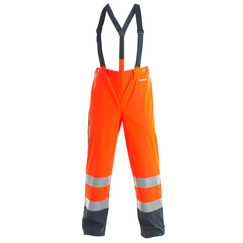 Hi-Viz Rain Trousers with braces
