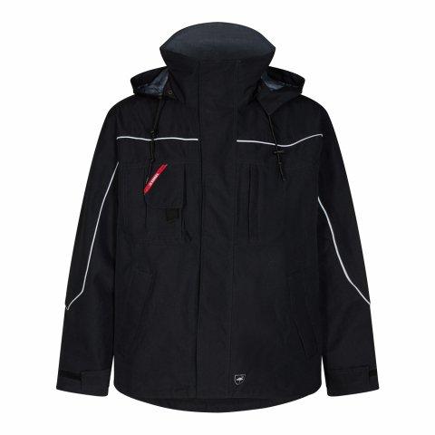 Black pilot shell waterproof jacket