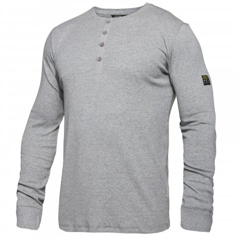 Long Sleeve Grandad Shirt in Black, Grey or Brown