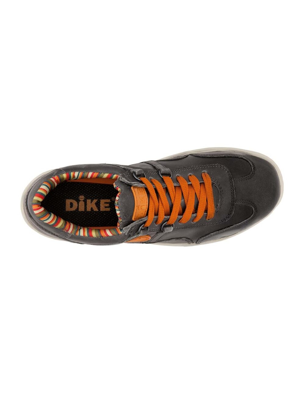 Overview of black raving safety shoe by dike
