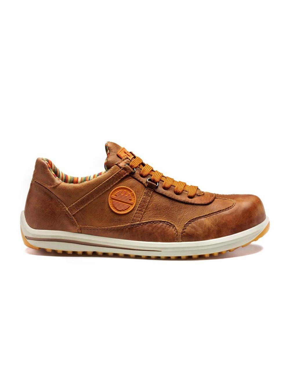Raving Safety shoe brown side profile