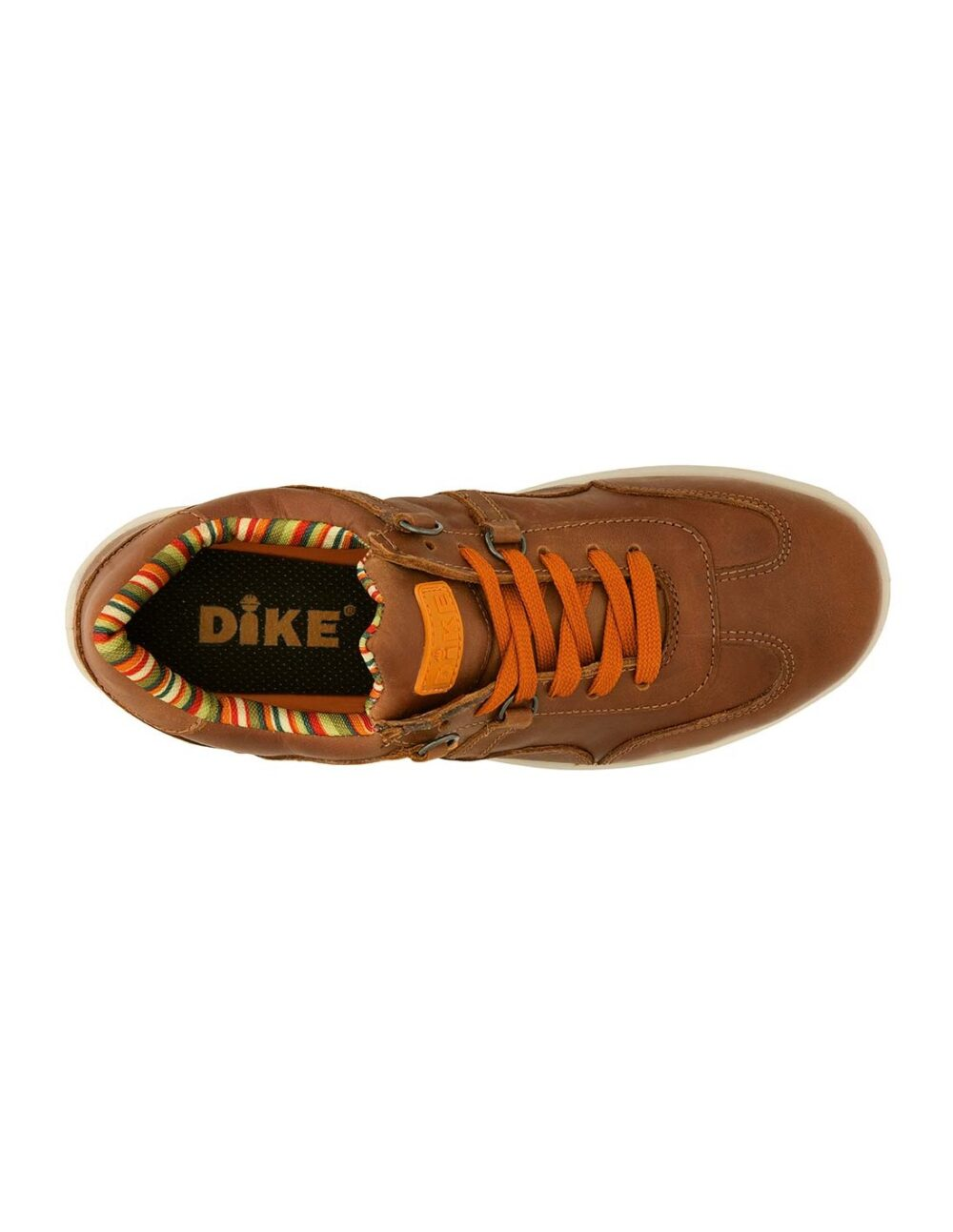 Brown raving safety shoe by dike