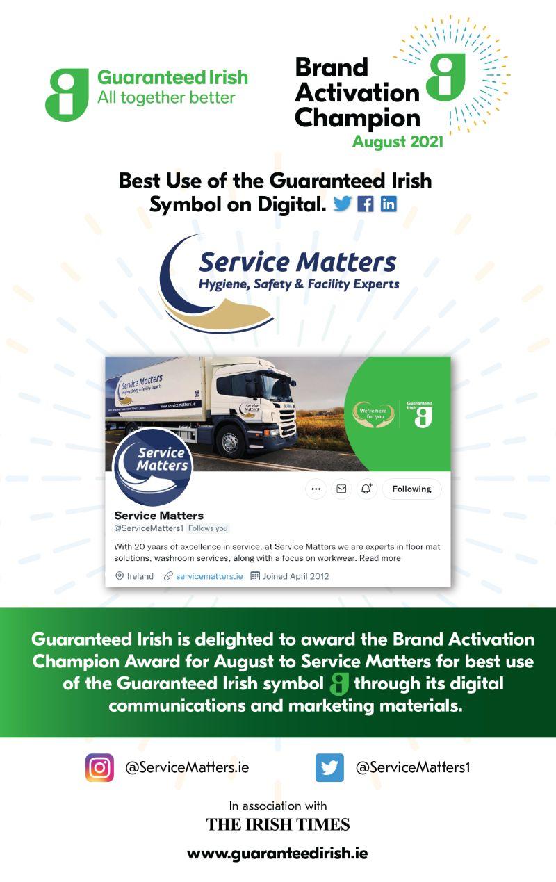 Guaranteed Irish Brand Activation Champion Award
