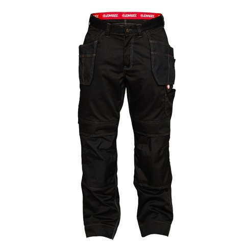 Black Combat Trousers with Hanging Pockets